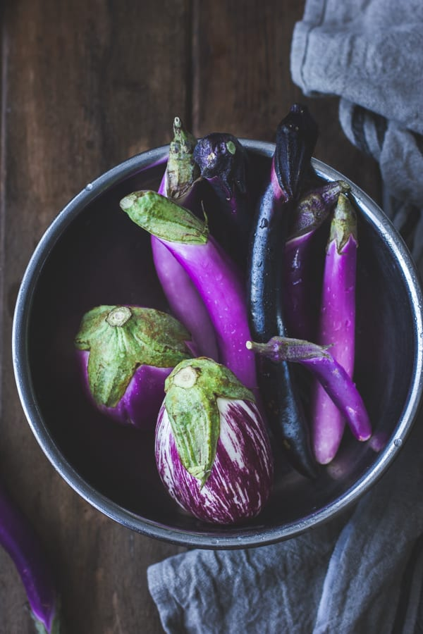 eggplant in bowl