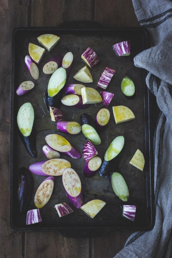 eggplant on tray