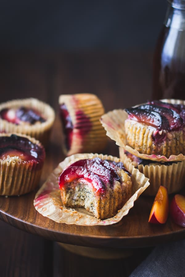 batch of Poppy Seed Pluot Financiers {Gluten-Free}