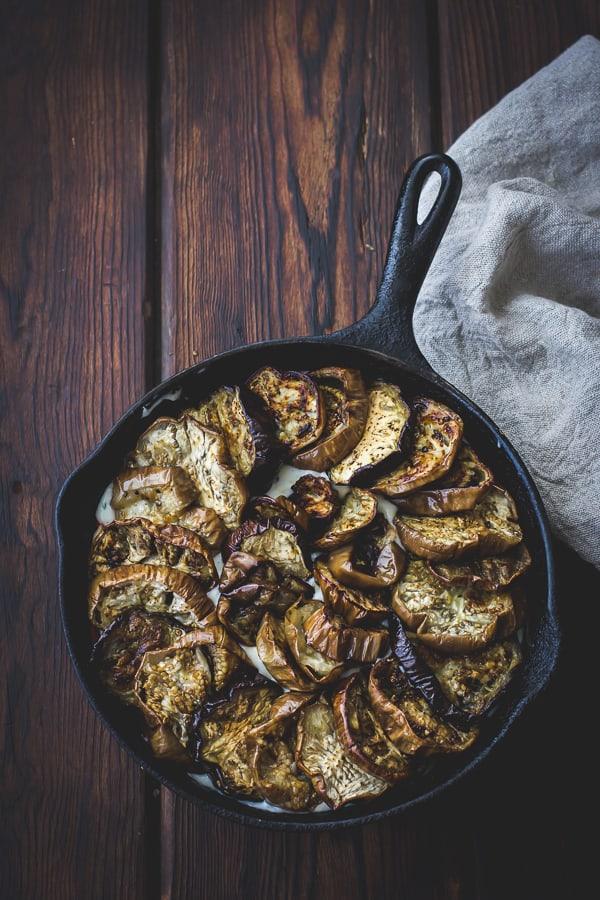 eggplant in skillet