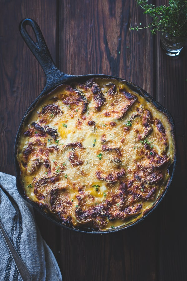 cheesy Eggplant, Sweet Pepper, and Bechamel Gratin {Gluten-Free}