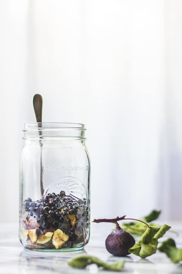 jar of berries