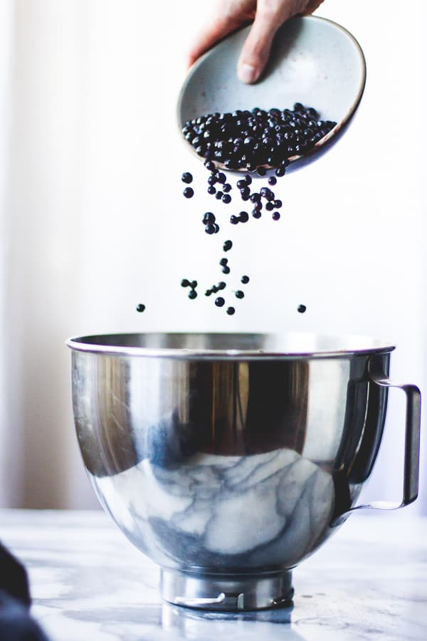 berries poured into bowl