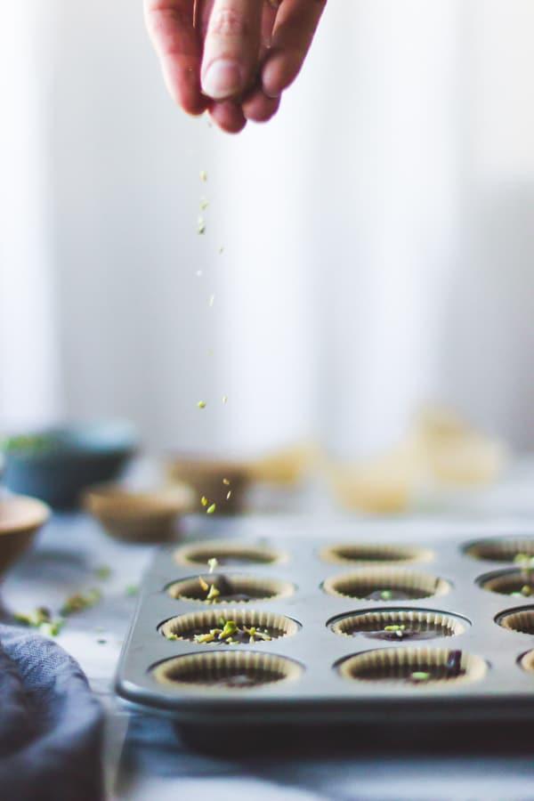 sprinkling pistachios