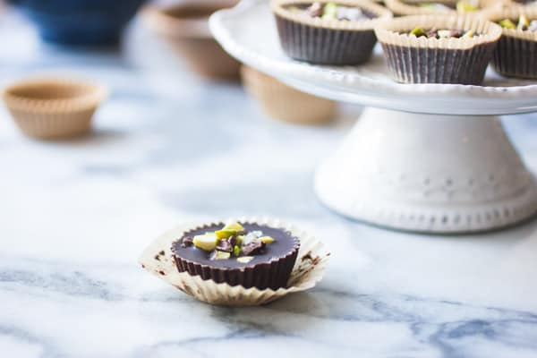 Raw Chocolate + Pistachio Butter Cup
