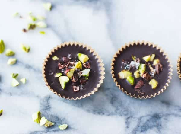 two delicious Pistachio Butter Cups