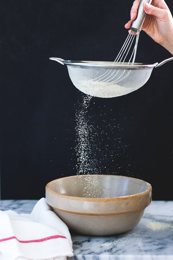 dry ingredients through sieve