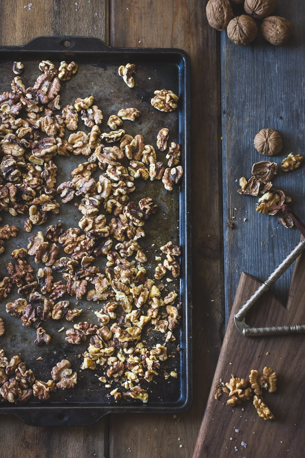 walnuts on tray