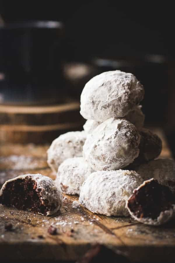 stack of delicious Spiced Cocoa Polvorones