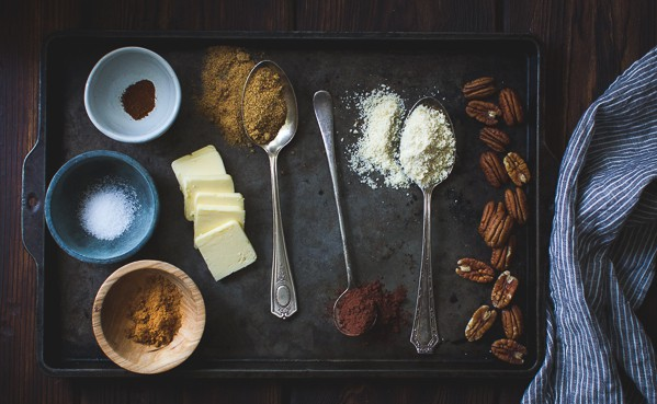 ingredients on tray