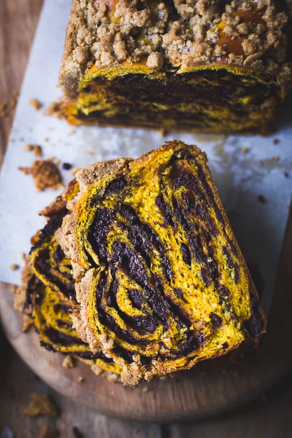 slices of Pumpkin, Rye + Chocolate Babka