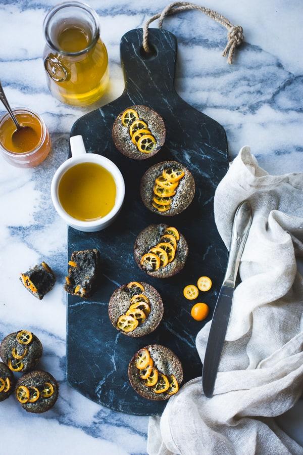 table of Black Sesame Kumquat Financiers