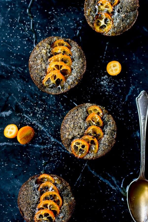 delicious Black Sesame Kumquat Financiers