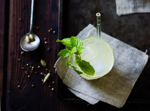 Mumbai Mule in glass