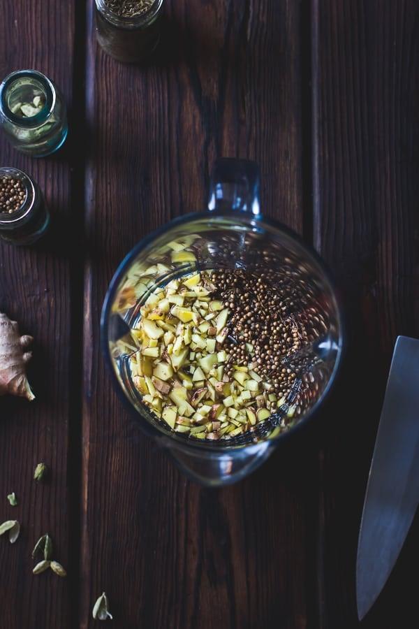 ingredients in jug