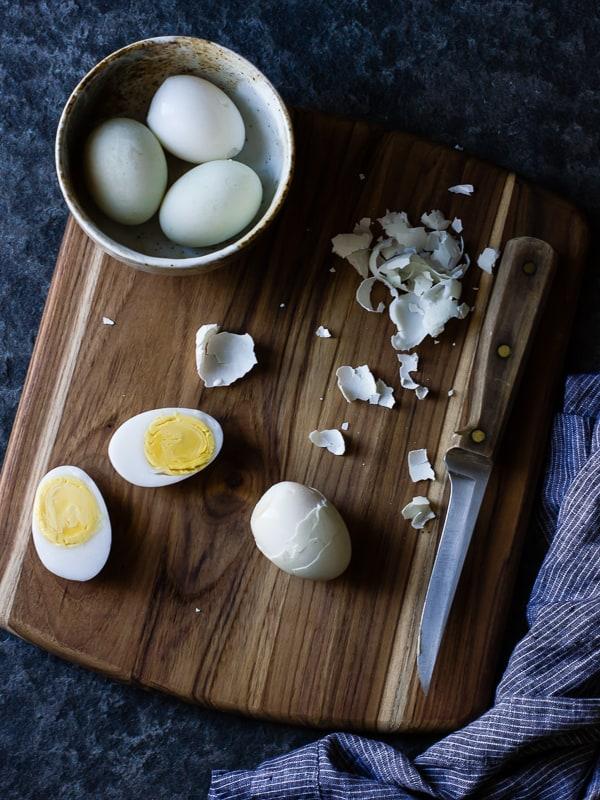 peeled eggs