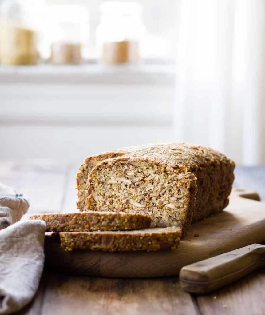 delicious Multi-Grain Nut + Seed Bread (