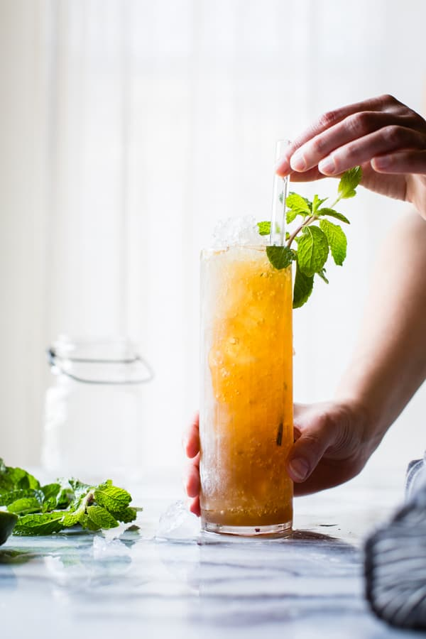 straw in Muscovado Mint Julep