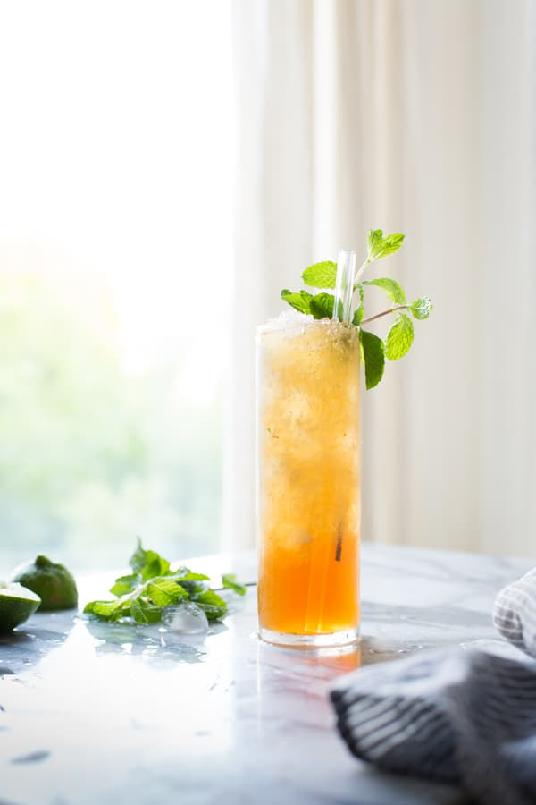 Muscovado Mint Julep in glass