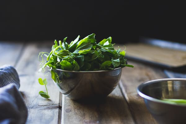 bowl of shoots
