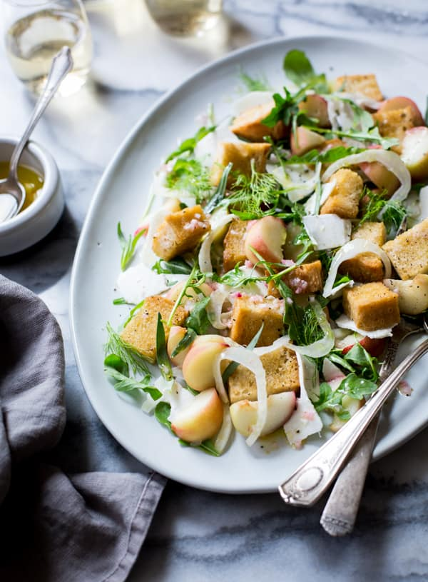 salad on dish