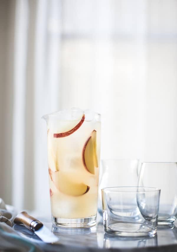 jug of sparkling white sangria