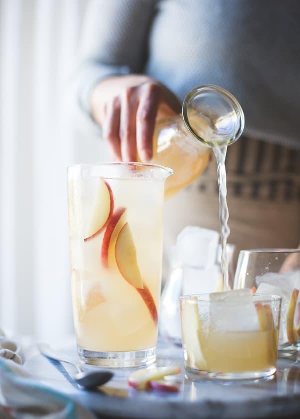 pouring sparkling sangria recipe
