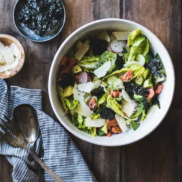 bowl of delicious Wasabi Caesar Salad