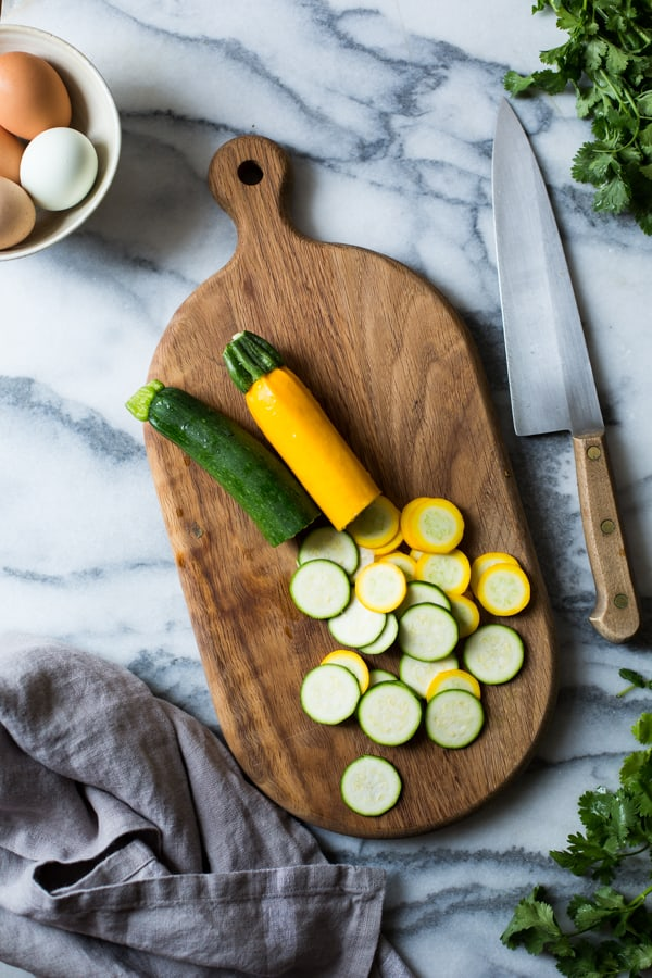 sliced veg