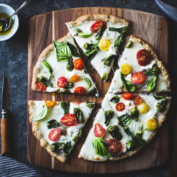 Padrón Pepper Margherita Pizza sliced