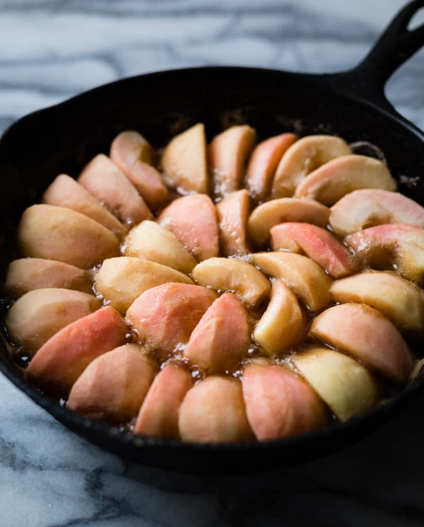 Pink Pearl Apples in pan