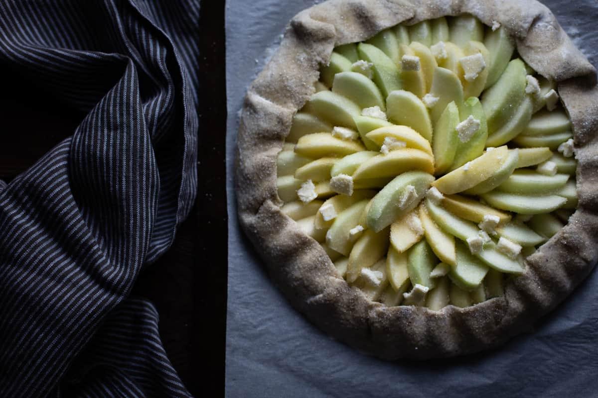 Apple Galette Rum Spiced Dulce de Leche {gluten-free} pre baking
