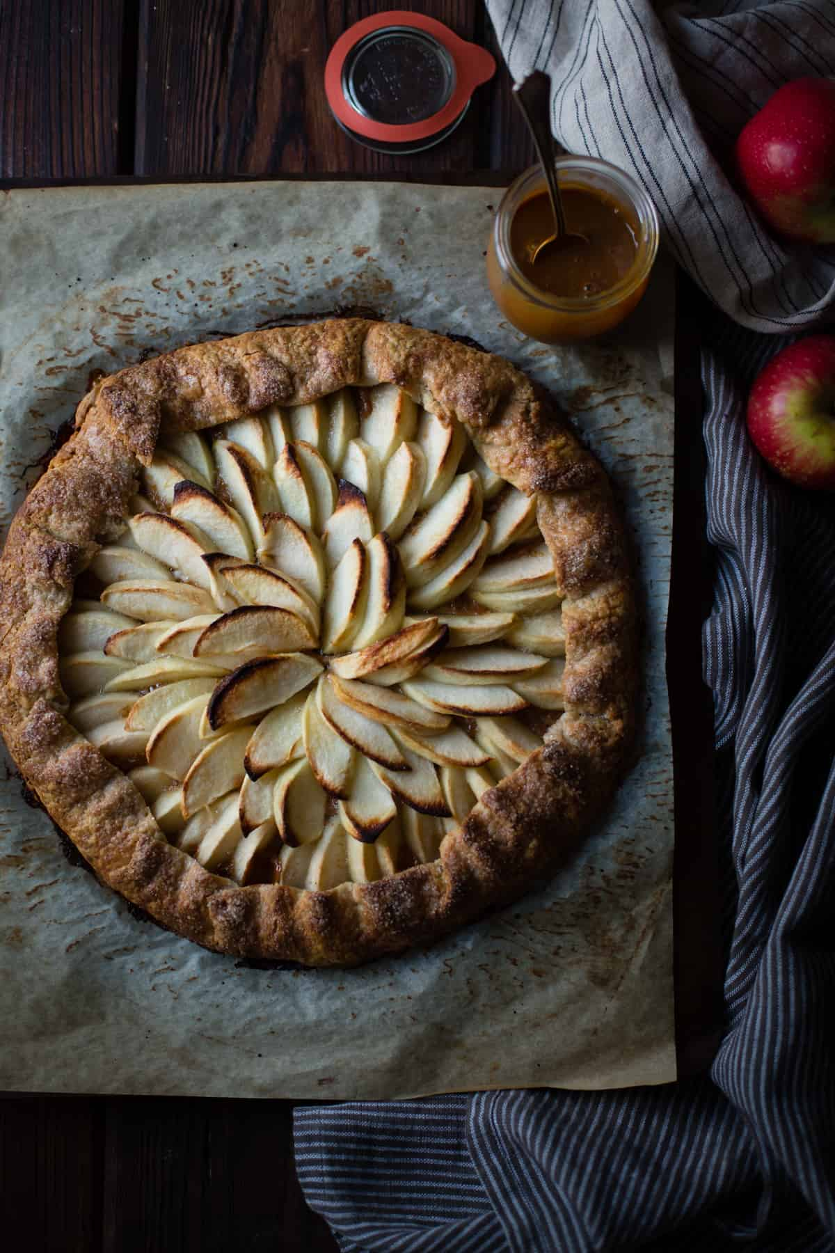 Apple Galette Rum Spiced Dulce de Leche {gluten-free} without topping