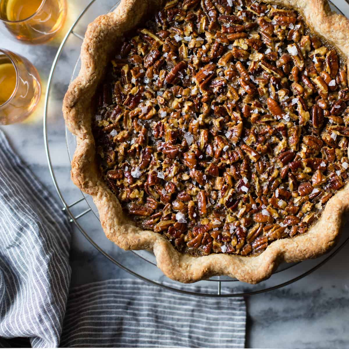 delicious Bourbon Sorghum Pecan Pie {with a gluten-free sorghum crust}