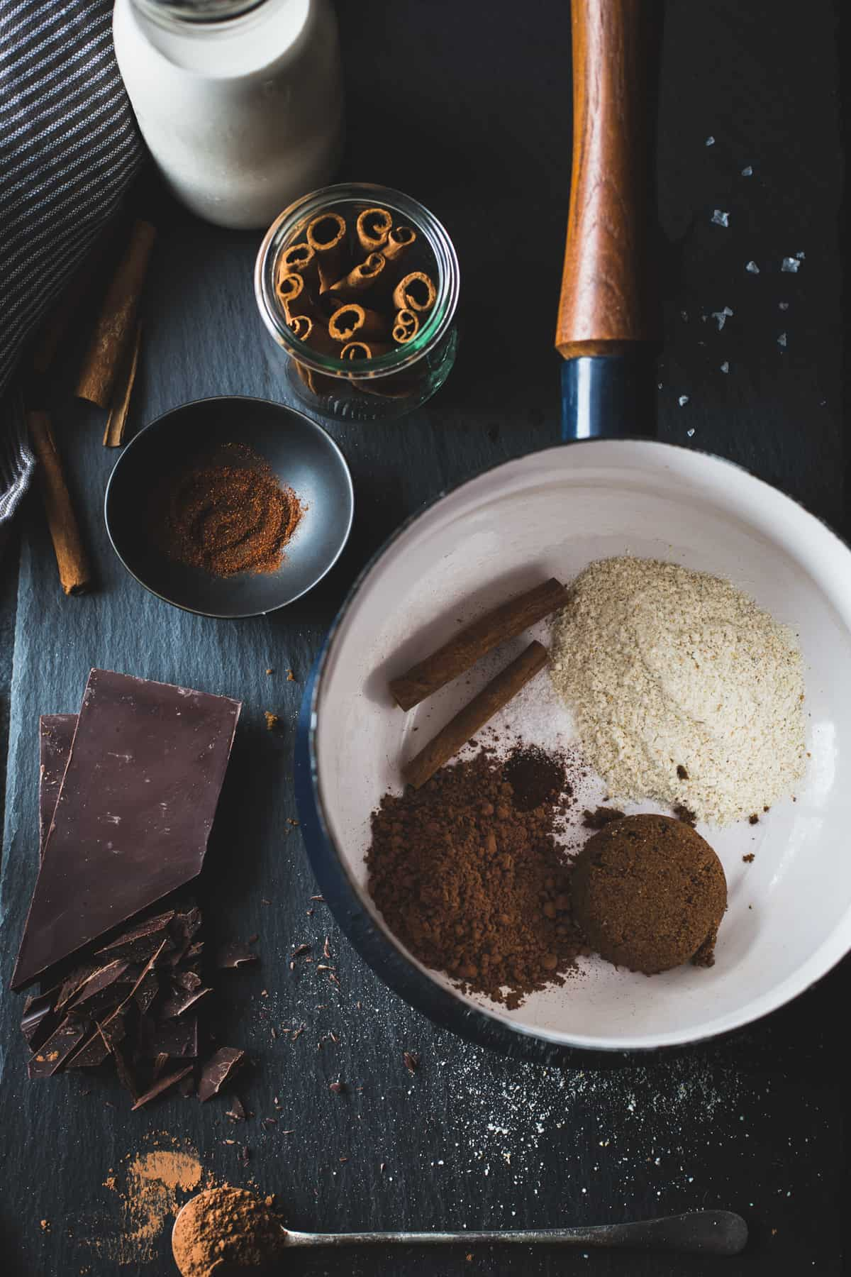 ingredients in pan