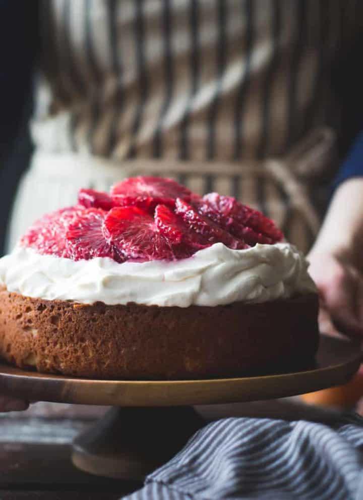 Blood Orange & Corn Flour Ricotta Cake with Whipped Mascarpone {gluten-free}-12