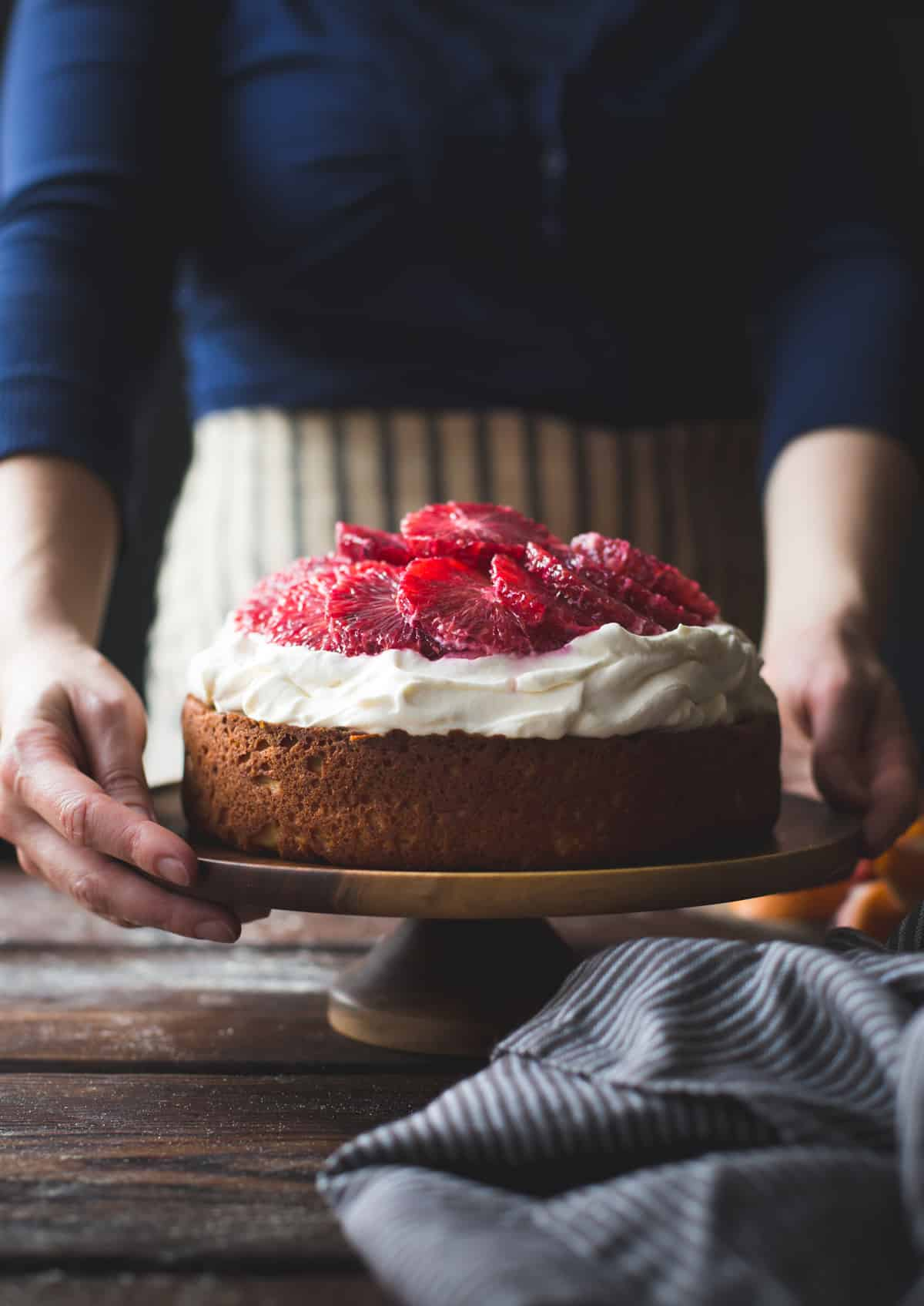Blood Orange & Corn Flour Ricotta Cake with Whipped Mascarpone {gluten-free}
