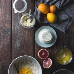 Blood Orange & Corn Flour Ricotta Cake with Whipped Mascarpone {gluten-free}