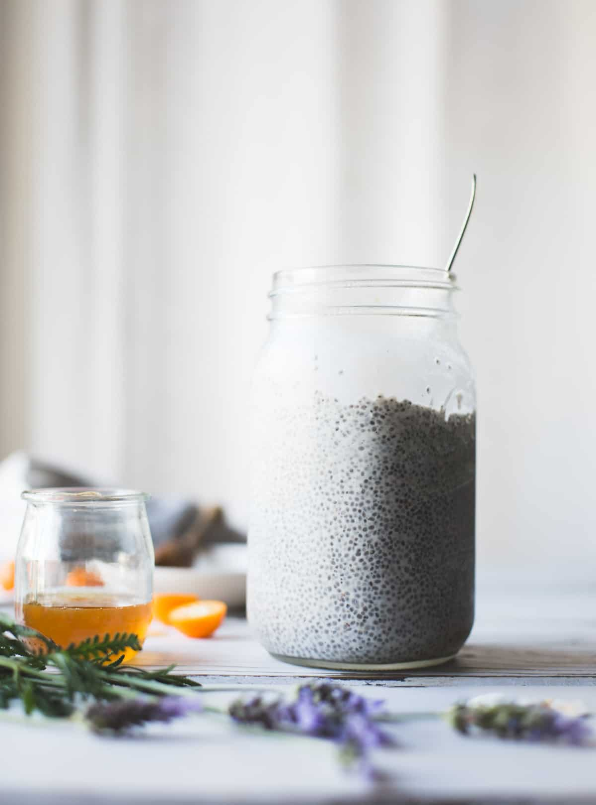 jar of chia pudding