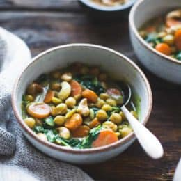 Coconut Curried Chickpeas with Carrots & Cashews {gluten-free, vegan}