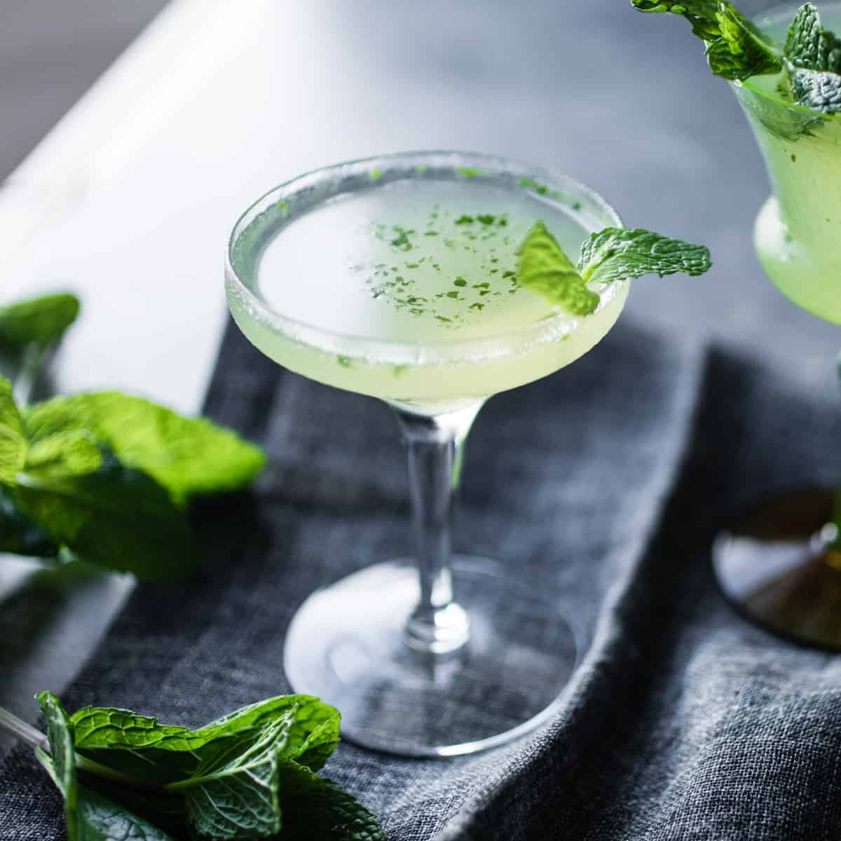 refreshing and delicious Verdant Lady {Green Chartreuse Cocktail with Gin & Mint}