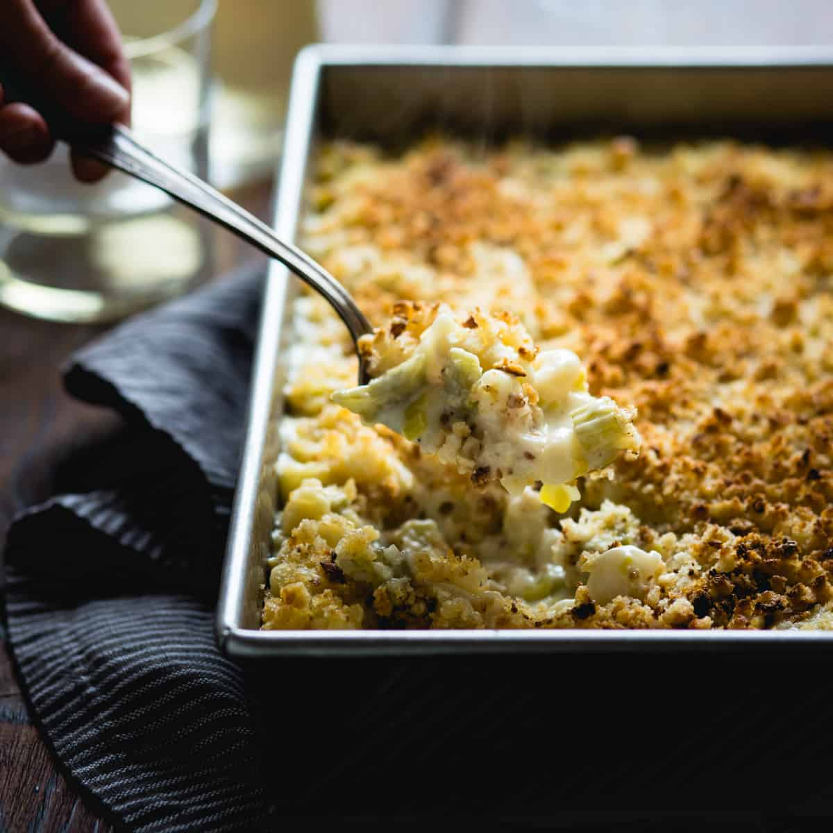 spoonful of creamy cardoon macaroni and cheese {gluten-free}