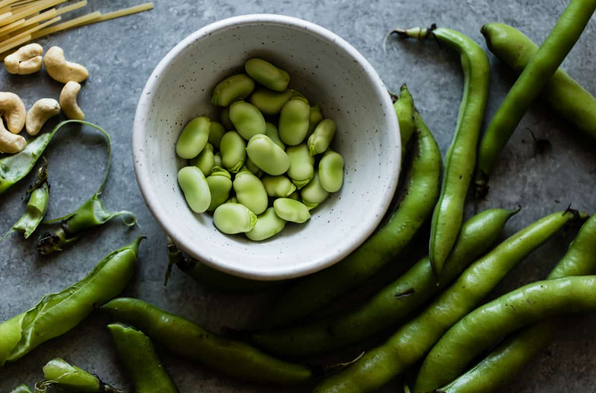 favas in a bowl