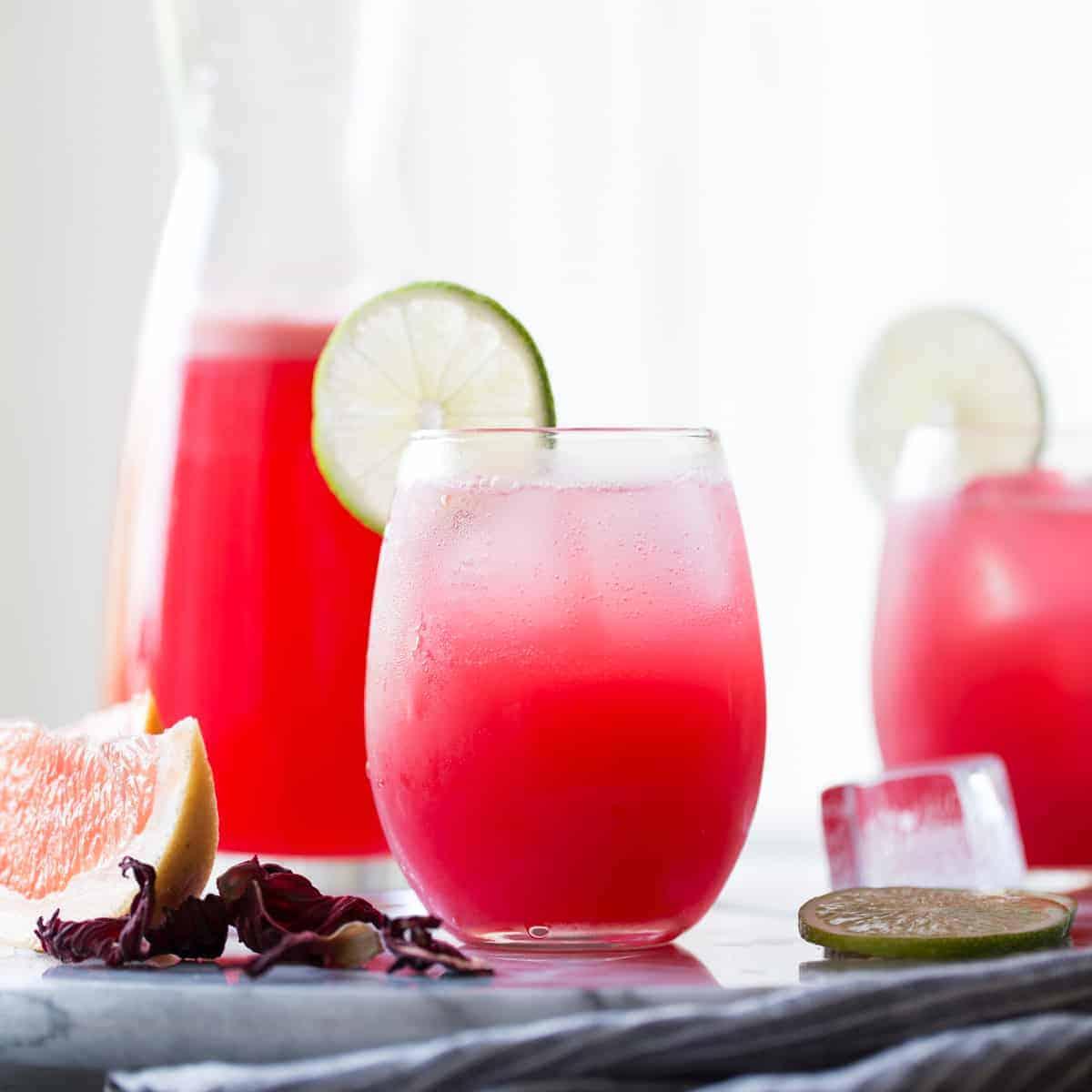 refreshing Hibiscus Ginger Palomas