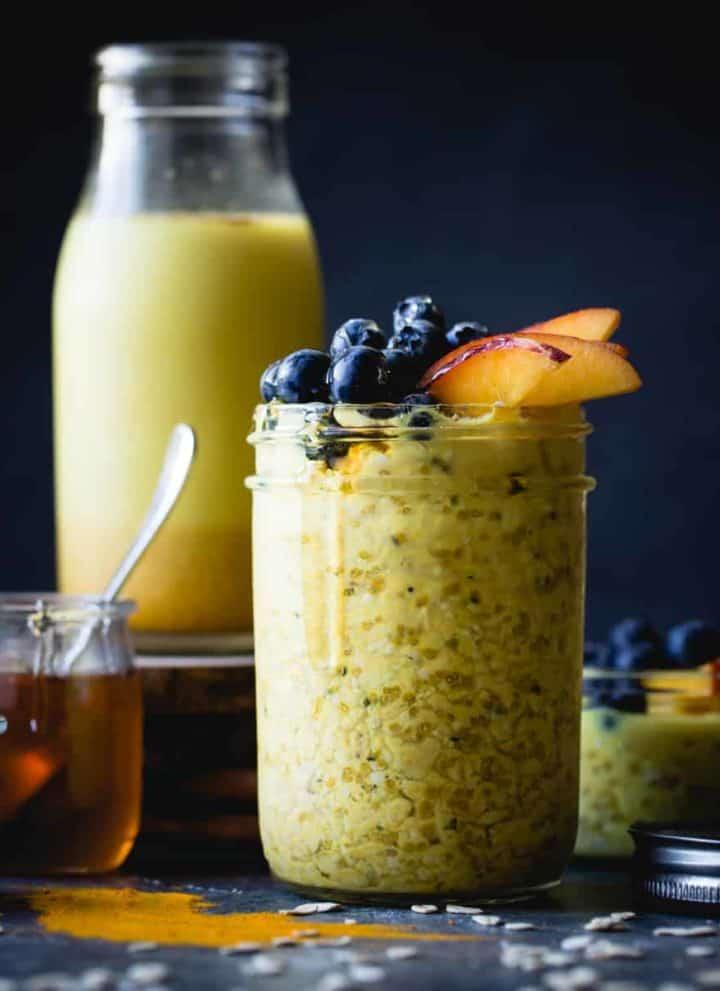 Golden Milk Overnight Oats {gluten-free, vegan}
