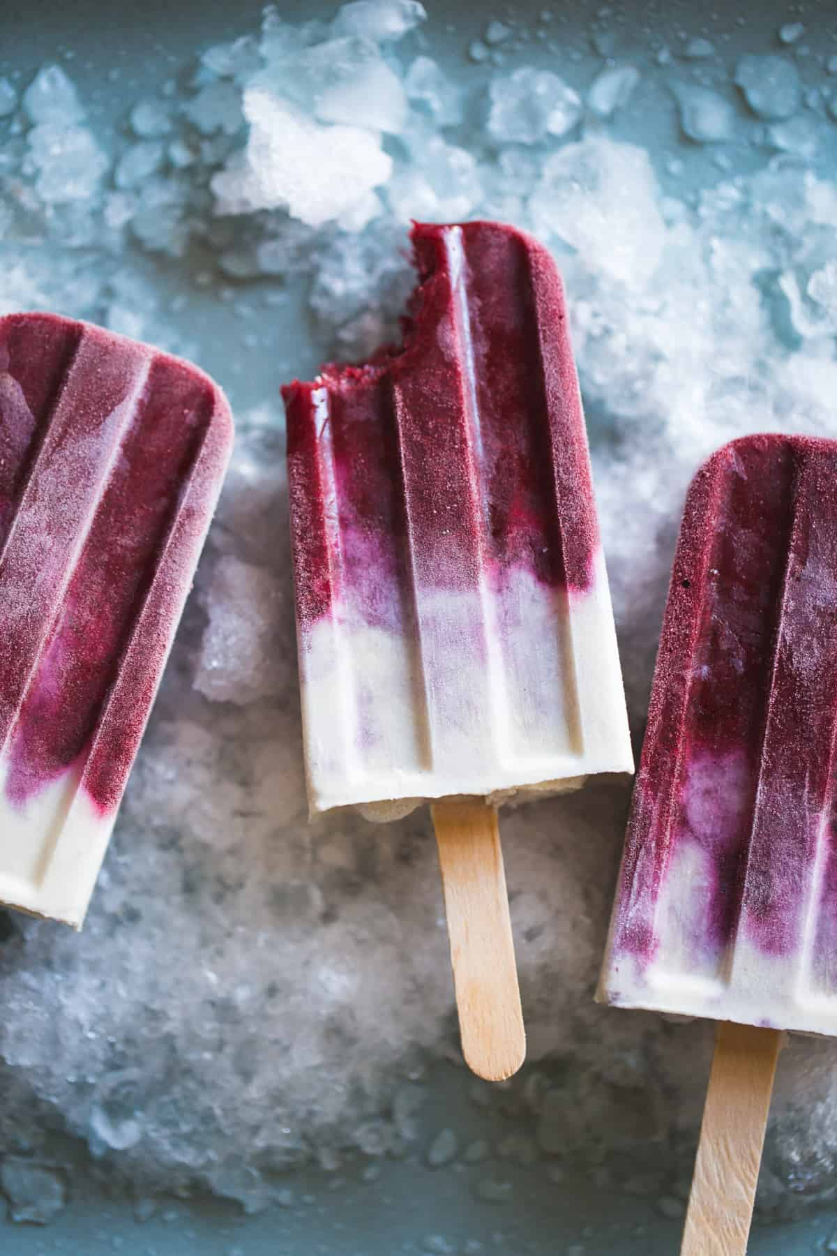 Blackberry Maple Cream Popsicles {vegan}