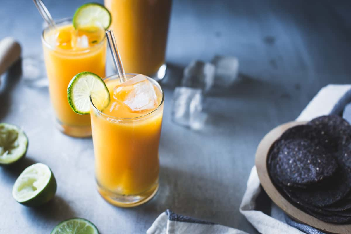 Mango Coco Agua Fresca with Ginger and RumMango Coco Agua Fresca with Ginger and Rum
