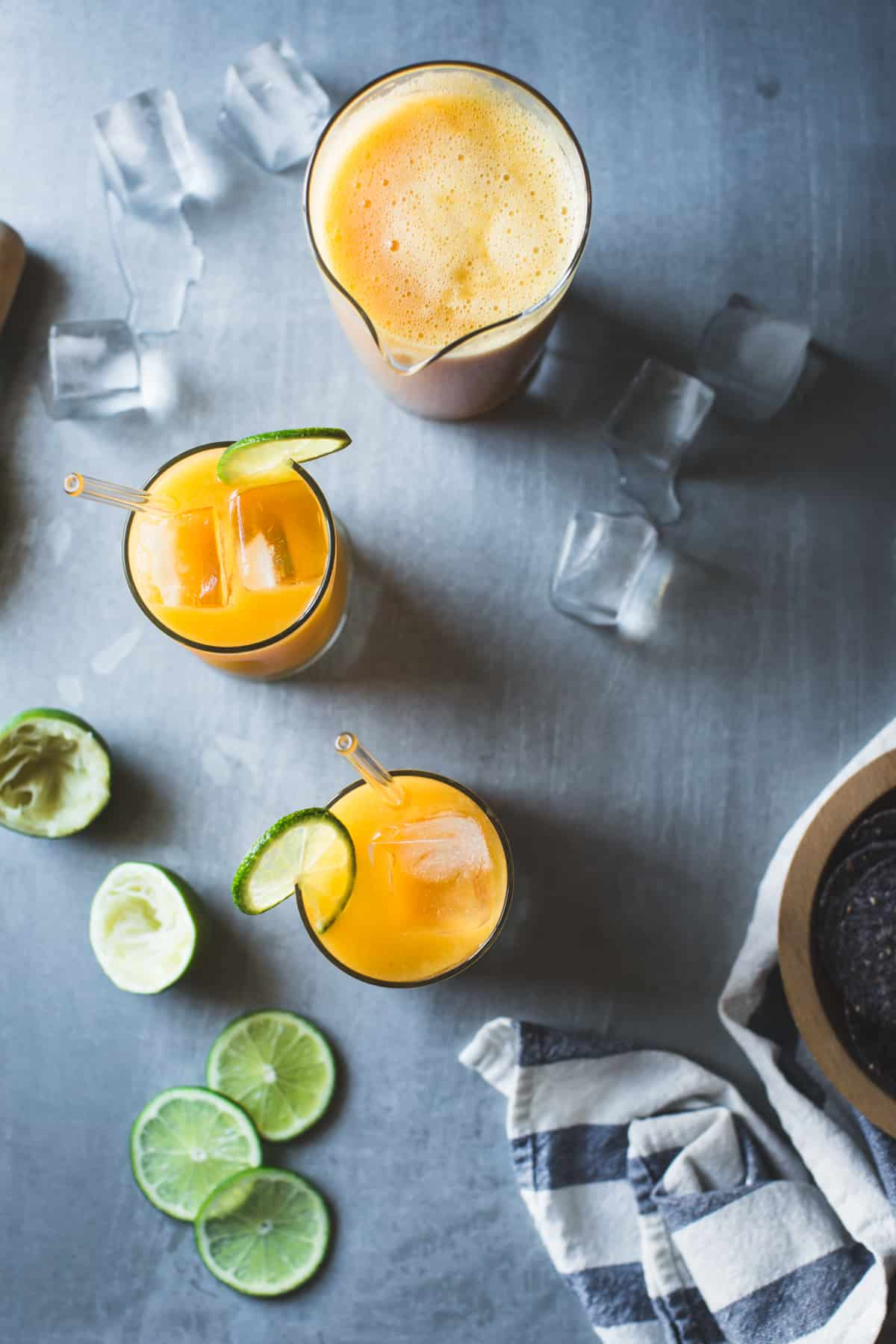 Mango Coco Agua Fresca with Ginger and Rum
