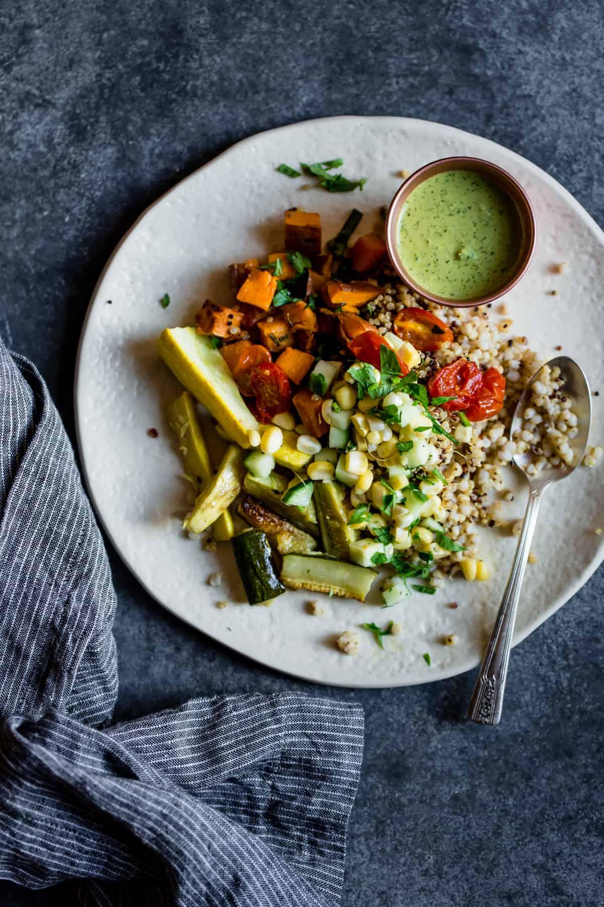 veg on plate