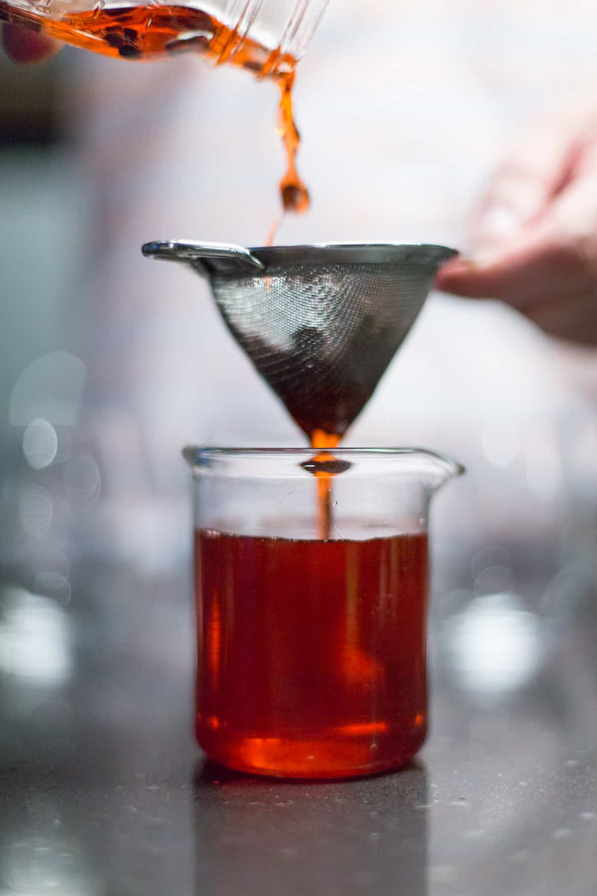 straining drink